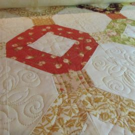 quilted area while on maching